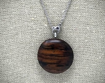 Exotic Cocobolo necklace pendant