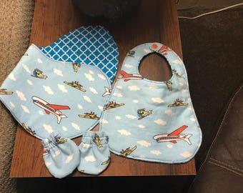 Bib and burp rag bundle set