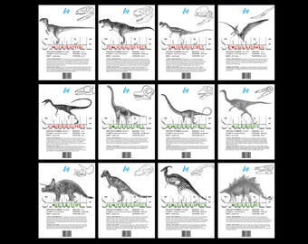 Jurassic Park, The Lost World, Dino Info Sheets, Printable Replica Prop