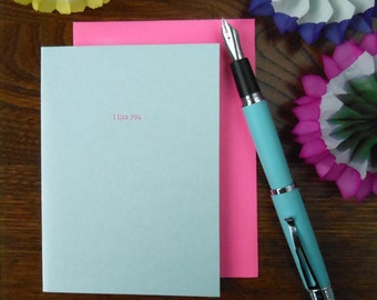 letterpress i like you. so there's that. we've got that. garden state inspired greeting card