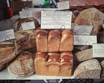 Bakery Decor, Bakery Print, Food Photography, Bread Photo, Kitchen Art Decor, Cafe Decor, Restaurant Wall Decor, Rustic Still Life Art Brown