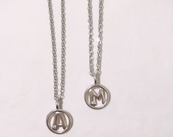 Name Necklace. Layering necklace. Initial necklace. Pendant for necklace with initial. Jewel minimal. Dainty necklace