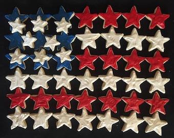 4th Of July Patriotic Star Sugar Cookie Tray