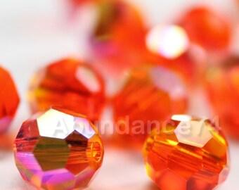 12 pcs Swarovski Elements - Swarovski Crystal Beads 5000 8mm Round Ball Beads - FIREOPAL AB