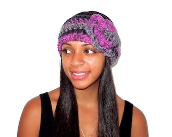 Crochet Headband, Flower Headband, Ear Warmer With Flower, Adult, Multi Color, Women,