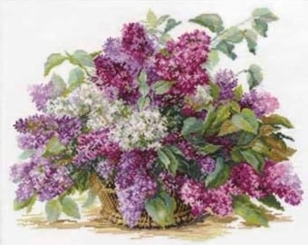 Cross Stitch Kit Flowers / Bouquet/ Cuisine