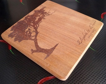 Custom chopping board, breakfast serving board, custom laser emgraved Personalized cutting board, mahogany serving or cheese board