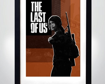 The LAST of US, ELLIE, Wall Art Print Game Poster (selectable size)