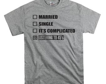 Single and listening to 45's checklist t shirt tee shirt gift record nerd shirt soul records shirt northern soul shirt single shirt vinyl