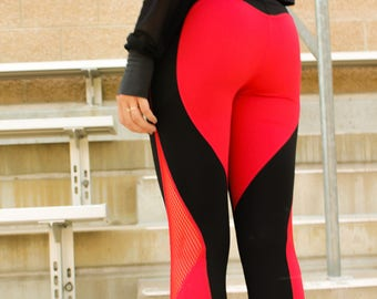 Miss Fit Activewear Love Bug Heart Cheeks High Waisted Fitness Leggings