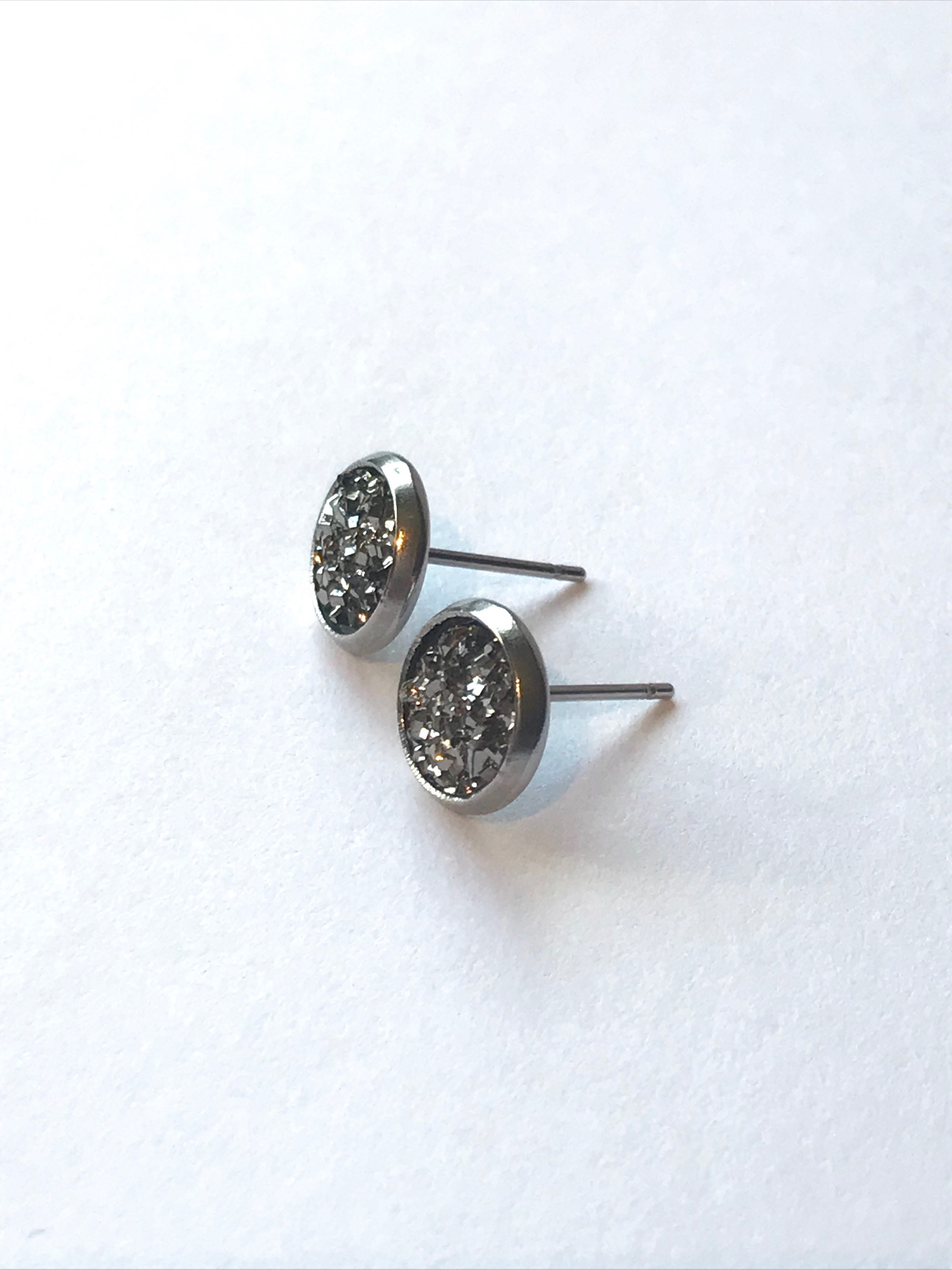 stud earrings women surgical tone men steel piercing for cross pin silver drop
