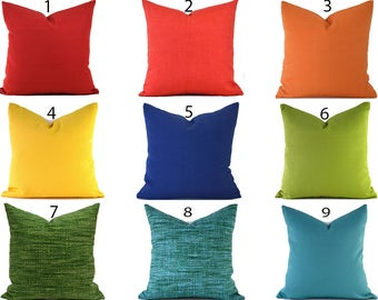 Solid Outdoor Pillows ANY SIZE Outdoor Cushions Outdoor Pillow Covers Decorative Pillows Outdoor Cushion Covers Best Pillow OD You Choose