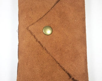 Rustic Courier||Hand-Bound Long-Stitch Leather Journal