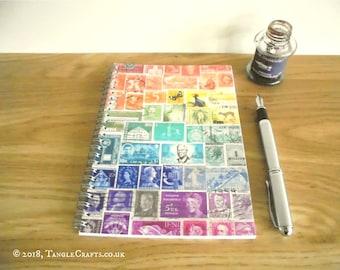 A5 Rainbow Print Spiral-Bound Address Book & Birthday Book