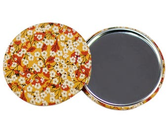 Liberty Mitsi Valeria mustard 75mm Pocket mirror * limited EDITION *.