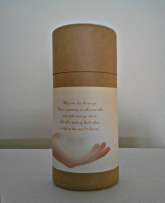 """Eco-Friendly Cremation Urn Scattering Tube w/Telescopic Lid - Natural/Biodegradable - Style """"Essence"""""""