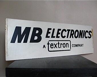 MB Electronics Sign.