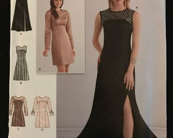 Simplicity D0548 - Special Occasion Dress or Gown with Yoke Front and Princess Seams - Size 6 8 10 12 14