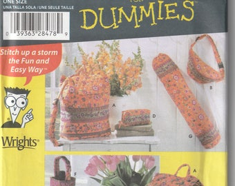 Simplicity Quilted Bags Pattern #4936 Sewing Patterns for Dummies 7 bags patterns