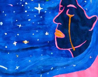 Space Girl Prints