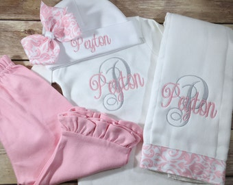 Baby Girl Coming Home OUTFIT Girl, Best Selling Item Personalized Baby Gown, Baby Girl Clothes, Baby Outfit, Personalized Newborn