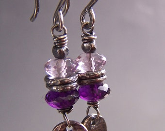 Purple Earrings Amethyst Gem Stones Boutique -Utterly Purple