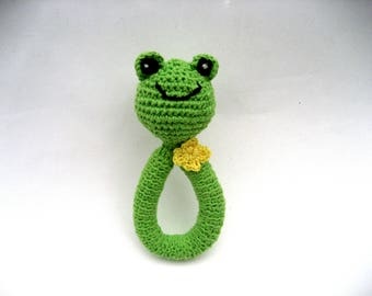 natural baby toy, cotton baby rattle, cat rattle