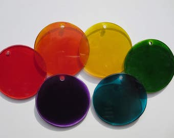 2 1/2 , 3-inch, or 4-inch, Glass Rounds with hole
