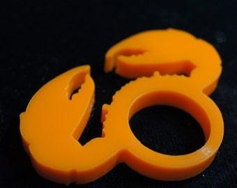 Epic Crab Ring Acrylic Orange