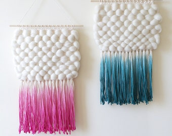 Woven Wall Hanging   Dip-Dyed Weaving
