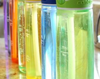 Water Bottles, Colorful Photography, Kitchen Art, Kitchen Photography, Digital Download, Kitchen Decor, Cottage Decor, Workout, Gym Art