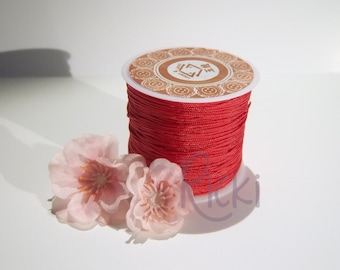 1 Roll of 1mm Red Nylon Chinese Knotting Cord for Macrame