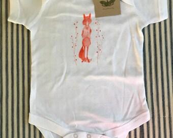 FOX ONESIE woodland animal onesie baby boy baby girl clothing