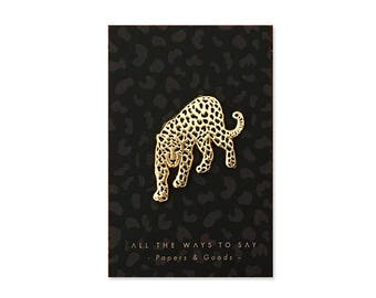 Black Leopard Pins