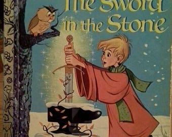 "Little Golden Book, Walt Disney's The Sword in the Stone, D106, 1963, ""B"" edition"