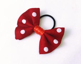 Polka dots Bow ponytail holder