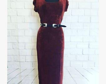M Vintage burnt orange slingy dress