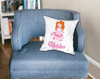 Princess Girl Sequin Pillow/Custom printed sequin pillow case/hidden image/secret image/Personalized