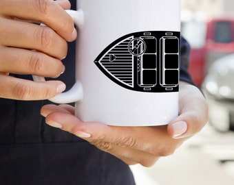 KillerBeeMoto:  U.S. Made Vintage Wooden Motor Boat Coffee Mug