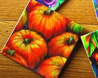 Ceramic Coaster - Pumpkin Patch