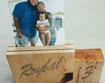 Custom printed wood block frame