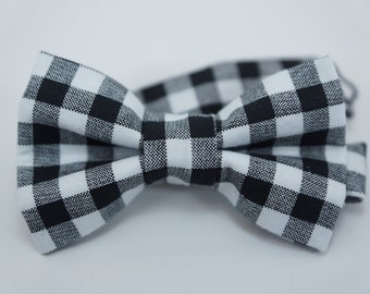 Bow Tie -Black & white gingham Bowtie