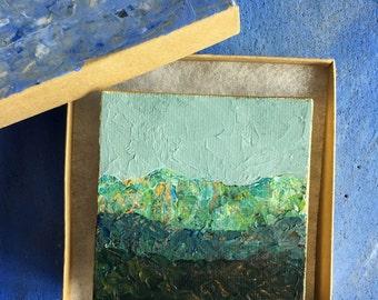 Miniature Original Acrylic Mountain Painting #22