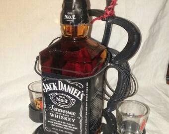 "Double ""shooter"" whiskey roper"