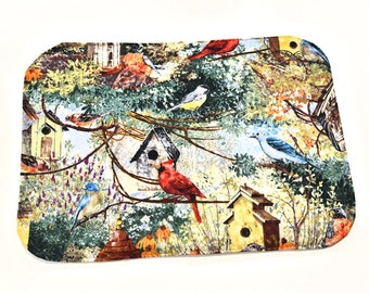 Bird Kitchen Placemat, Waterproof Place Mat Kitchen Dining Decor, Table Linens, Kitchen Gifts Under 20, New Home Gifts, Women Gifts
