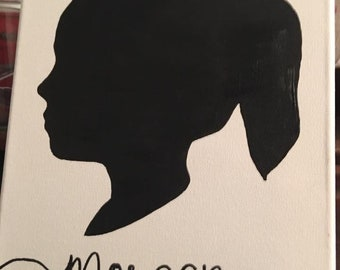 Hand Painted Silhouette on 8x10 Canvas