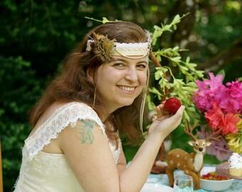 Partridge Princess Feather Crown Headdress