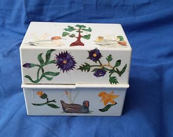 Vintage Duck Collage Box Index Box.