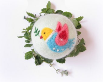 CHRISTMAS Ornament,Felt Bird,Dove,Needle felted Bauble,Felt Christmas ornament,Felted Bauble
