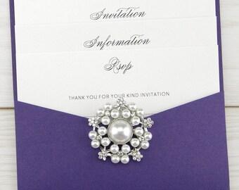 SAMPLE * Adriana Pouch Wedding Invitation